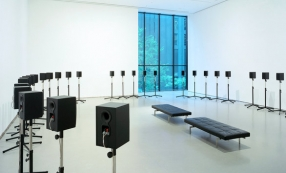 """Forty-Part Motet,"" Janet Cardiff, in 2005. © Timothy Hursley/Museum of Modern Art"
